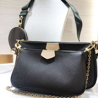 Wholesale two piece boxes for sale - Group buy LB72 women handbags purses bags crossbody bag Three piece combination bags free shopping M44823 Multi pocket bag Original box