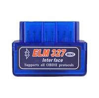 автомобильный чип оптовых-Мини Bluetooth elm327 версия V2.1 вафельный чип детектор неисправностей автомобиля OBDII