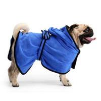 banyo duş ürünleri toptan satış-Pet Köpek Bornoz Banyo Havlusu Köpek Kurutma Banyo Havlusu Kedi Hood Pet Duş Kapşonlu Bornoz Pet Bakım Ürünü RRA339