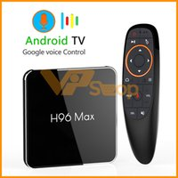 control remoto de google tv al por mayor-H96 MAX X2 Android 8.1 Mini TV Box con control remoto por voz 4GB 64GB 32GB 16GB S905X2 USB3.0 1080P H.265 4K Set Top Box Google Play H96MAX Smart TV