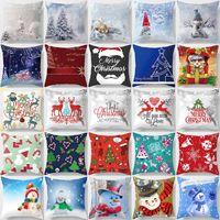 фотографии красивые женщины оптовых-Creative design merry Christmas beautiful picture anime cartoon pattern men women square pillow case snow pattern case