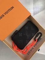 miçangas contas strand venda por atacado-Melhor qualidade carta de couro genuíno dos homens carteira curta com caixa Tote Bolsa clássico titulares de cartão chave mulheres coin carteira M67452 13.5-7.0-1.5 c