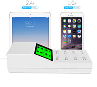 Wholesale universal phone socket uk for sale - Group buy Universal Smart USB Quick Charger Adapter Tabletop Socket Led Display Screen V A USB Charger Ports For Mobile phone MP3