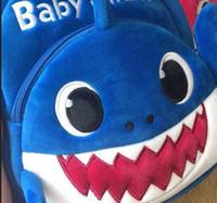 Wholesale plush fabric backpack for sale - Group buy 2019 Children s Backpacks new children s cartoon small shark bag Unicorn toddler shark backpack baby bag cartoon cute plush toy doll bag