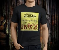 Wholesale short tails for sale - Group buy New Cool GENESIS Band A Trick of The Tail Album Men s Black T shirt Size S XL Cotton Fashion Men T Shirt Basic Tops