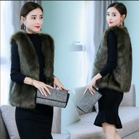 art und weise gilet großhandel-Fashion Faux Fur Damen Weste Mantel Luxus Faux Fox Thermal Damen Mantel Weste Winter Fashion Fur Jacke Gilet Veste