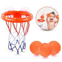 brinquedos de tiro de basquete venda por atacado-Hot Crianças ou Crianças Brinquedos de Banho de Basquete HoopBasketball Set Para Fotografar em preço competitivo para o transporte livre