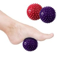 Wholesale reflexology resale online - 7 cm cm Yoga Studio Spikey Massage Gym Balls Spiky Stress Reflexology