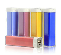 Wholesale packaging for lipstick resale online - 2600mAh Mobile Charger Lipstick Power Bank Mini USB Portable Charger Backup Battery for iPhone XSXR Max Samsung S9plus Note9 With Package