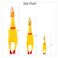 Wholesale shrilling screaming rubber chicken toy resale online - Party Supplies Screaming Rubber Chicken Yellow Shrilling Bite Resistant Squeeze Toy A Perfect Gift for Birthday and Festivals Funny