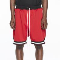 pantalon de jogging européen achat en gros de-Nouveau Pantalon Homme Justin Bieber Short Européen et Américain Street Style Short Homme Pantalon Sport Noir Blanc Vert Rouge Pantalon de Jogging