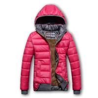 modelos de deportes femeninos al por mayor-Mujeres Algodón Con Capucha Abajo Parkas modelos femeninos abrigo deportivo más abajo chaqueta de invierno cálido abrigo con capucha abrigo Sombrero Desmontable LJJA2638