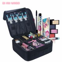 cajas de viaje de maquillaje al por mayor-Bolso de las mujeres de moda profesional estuche de cosméticos cepillo de belleza bolsa de maquillaje de viaje Necesario impermeable Bolsa de cosméticos Gran capacidad de maquillaje caja