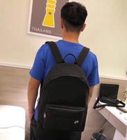 Wholesale custom backpacks resale online - 2019 new unisex backpack high end custom quality designer backpack fashion trend street style letters bee pattern floral decoration