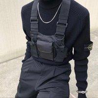 ingrosso borsa tattica dell'anca-2019 Pettorale rigido in poliestere Gilet nero Hip Hop Streetwear Funzionale tattico Pettorale Pettorale Kanye West Wist Pack Pettorale
