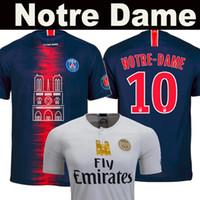 cd4589249f8afe Camiseta de fútbol de Notre Dame PSG Notre-Dame Paris 19 20 MBAPPE NEYMAR  JR CAVANI Paris Saint Germain 2019 2020 DANI ALVES Mbappé DI MARIA Tailandia  ...
