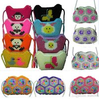 Wholesale travel bags for children for sale - Group buy Handmade Crystal Beaded Bag One Shoulder Backpack Luxury Bag For Children Kids Women XMas Evening bags Travel Storage Bag Color HH7