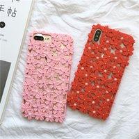 ingrosso iphone casi di ciliegio in fiore-All'ingrosso DHL Cherry Blossoms Cover TPU casi di paraurti per IPhone XS Max / XR X 8/7/6 più resistente antiurto Proteggi il tuo cellulare Shell