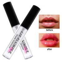 volle lippen plump großhandel-Plump Lippen Moisturizer 3D Transparent Lipgloss Make-up wasserdichte Temperatur die Farbe wechseln Klare Lip Plumper Voll Lip Gloss