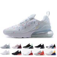 nouvelles chaussures de course pour hommes achat en gros de-Nike Air Max 270 AirMax 27c Nouveautés 2019 champion de France 2 étoiles Noir Triple Blanc Femmes Baskets Mode Athlétisme Baskets Chaussures de Course Taille 36-45