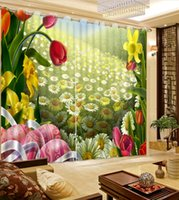 modern living room drapes 도매-모던 럭셔리 Hollyhock 3D Blackout Window 커튼 - 키즈 룸 Living room 호텔 Drapes Cortinas