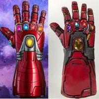 demir sahne toptan satış-Avengers Endgame Demir Adam Infinity Dayağı Cosplay Kol Thanos Lateks Eldiven Arms Süper Kahraman Maskeleri Silah Sahne Yeni DropShipping
