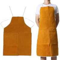 Wholesale welder free shipping for sale - Group buy Cow Leather Aprons Welding Heat Insulation Protection Welders Blacksmith x64cm Safety Clothing