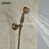 ducha estilo clásico al por mayor-GiZero libre de la nave Classic Negro teléfono antiguo de bronce cobre del estilo de ducha de mano soporte del cabezal de ducha + ducha + 1,5 m de manguera GI1318