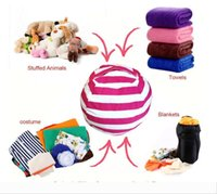 Wholesale bean bag chair for sale - Group buy Storage Stuffed Animal Storage Bean Bag Chair Portable Kids Toy Storage Bag Play Mat Clothes Home Organizer Colors