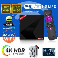Wholesale 4gb android tv box online - Newest MX10 MAX Android TV Box GB GB G G WIFI Bluetooth MX10 TV BOX IPTV Media Player