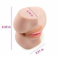 mastürbasyon bebekleri toptan satış-Gerçekçi 3d gerçekçi erkek mastürbasyon yetişkin seks oyuncakları erkek üreme organları cebi bebek