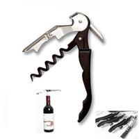 ingrosso coltelli per cavalli-Cameriere Wine Tool Apribottiglie cavatappi cavatappi Coltello cavatappi a due cavateppi con cerniera DHL HH7-1880