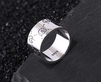 Wholesale new fashion hand bands resale online - Italy Designer new fashion sterling silver Ghost rings jewelry vintage antique silver hand made Hip hop menS womanS gg ring gift