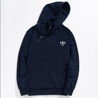 erkekler ince pullu kapüşonlu hoodies toptan satış-Erkek ADIDAS Kazak Hoodies Kalp Baskılı Ceket Moda Jogging Yapan Eşofman Ince Tişörtü Kaykay Hoodie severlerin Rahat Ceket
