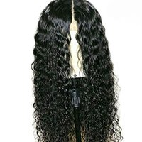 Wholesale big virgin black lady for sale - Curly Full Lace Human Hair Wigs Pre Plucked Glueless Brazilian Virgin Hair Curly Lace Front Wig With Baby Hair For Black Women