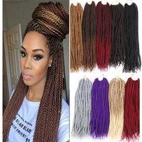 Wholesale grey kanekalon braiding hair resale online - 12inch Strands Pack Different Color Synthetic Braids Hair Extensions g Pack Kanekalon Heat Resistant Fiber