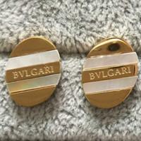 b gümüş takılar toptan satış-2019 Ünlü Marka Takı Paslanmaz Çelik Lüks Altın gümüş gül altın Kaplama B Mektup Moda Tasarımcısı Saplama küpe Kadınlar Için toptan