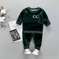 hohe hosen großhandel-HOT im auf lager besten Designer Top-Marke 1-4 Jahre alt Baby-Mädchen-Kleidung + Hosen hohe Qualität coco Verkauf