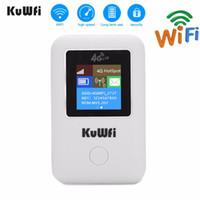 3g kablosuz kablosuz yönlendirici toptan satış-Sim Card ile KuWFI 4G Kablosuz Yönlendirici Taşınabilir 3G / 4G LTE Kablosuz Yönlendirici kilidini Taşınabilir Cep Wifi Hotspot Kart Wifi