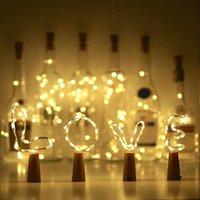 Wholesale led decorative light string resale online - Waterproof LED Copper Wire String Lights For Xmas Party Wedding Decor M LED Lamp Cork Shaped Bottle Stopper Light Glass Wine BC BH0976