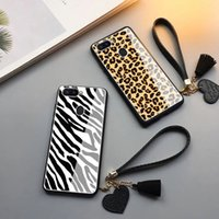 Wholesale phone cases zebra online – custom 50pcs Net Red Panther Zebra Grained Glass Cell Shell Suitable for Market iPhone HW Millet OPPO VIVO Cell Phone
