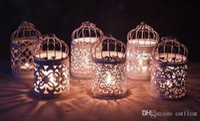 linternas votivas al por mayor-Metal Candelabros Vintage Votive Candel Holder Lantern Birdcage Decorativo Marroquí Colgando Linterna Accesorios de Decoración del hogar