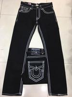 leichte denim kurze overalls großhandel-Freies Verschiffen 2019 neue zutreffende elastische Jeans Mens Robin Rock Revival Jeans Kristall Studs Denim Pants Designer Hose Größe 30-40