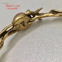 Wholesale brass bangle cuff resale online - 19ss fashion jewelry women bracelets Mosaic crystal Cuff Open bracelet Leaf winding fashion Charms Bangle brass Jewelry ja D4