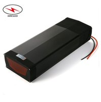 Wholesale bicycle light battery pack resale online - Electric Bicycle Battery v Electric Bike Lithium Ion Battery Pack Rear Rack V Ah Ah Ah with tail light for W