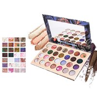 Wholesale makeup pallette resale online - 28 Color Colorful Mixed Shimmer Matte Eye Shadow Makeup Palette for Everyday and Party Color Rendering Eyeshadow Pallette L30