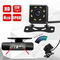 ingrosso vista angolo della macchina fotografica-8 LED IR di visione notturna macchina fotografica posteriore di sostegno impermeabile Parcheggio universale della macchina fotografica grandangolare retrovisore Car Rear View Camera