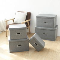Wholesale car quilts for sale - Group buy New cotton and linen underwear drawer type fabric drawer storage box cotton quilt storage box car storage box