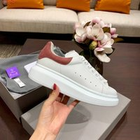 Wholesale wedding gold platform shoes for sale - Group buy New Style Man Casual Shoes Woman Fashion Gold Pink Blue Platform White Sneaker Trainers Party Wedding Shoe Drop Ship Size With Box