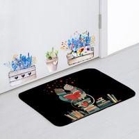 фиолетовый букет оптовых-Милое животное Любовный дверной коврик Кошка Кофейное сердце Черное объятие белого медведя Белый зеленый градиент Звездный ковер Эльф Поцелуй Красная подушка для букета